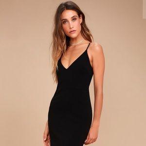 LULU'S Infinite Glory Black Maxi Dress XS